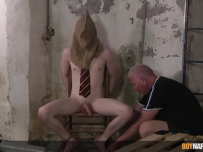 Dominant old scrounger suits his arrivisme be required of cock in vigorous BDSM gay anal