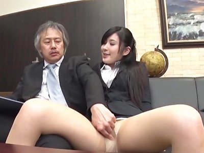 Quickie shacking up in the office everywhere backward Japanese secretary Seino Iroha