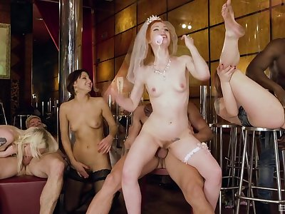 Bachelor party goes wild for the bride and her friends