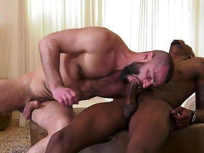 Black thunk ass fucks gay lover in insane scenes