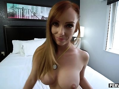 Stepmom started masturbating in the backseat of the car