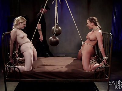 Submissive whores leave their master adjacent to dominate their asses