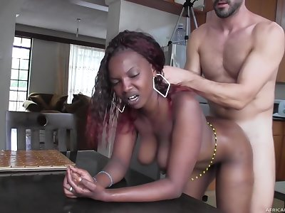 Real African Hustler Fucked and Facialized on Camera