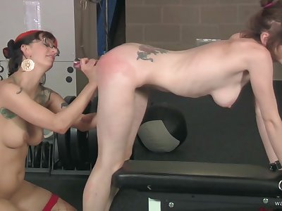 Amateur tattooed babe uncovered with the addition of spanked by her mistress